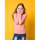 Водолазка для девочки, рост 128 см, цвет персиковый CAJ 61147