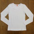 Блузка для девочки, рост 128 см, цвет белый CAJ 61635