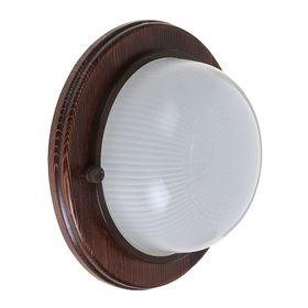 Светильник для бани/сауны ITALMAC Termo 60 00 16, 60 Вт, IP54, цвет венге, до +130°C Ош