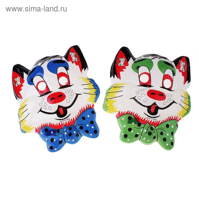 """Маска """"Котик с бабочкой"""", цвета МИКС"""