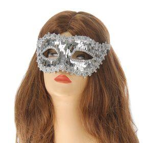 """Карнавальная маска """"Венеция"""", цвет серебро"""