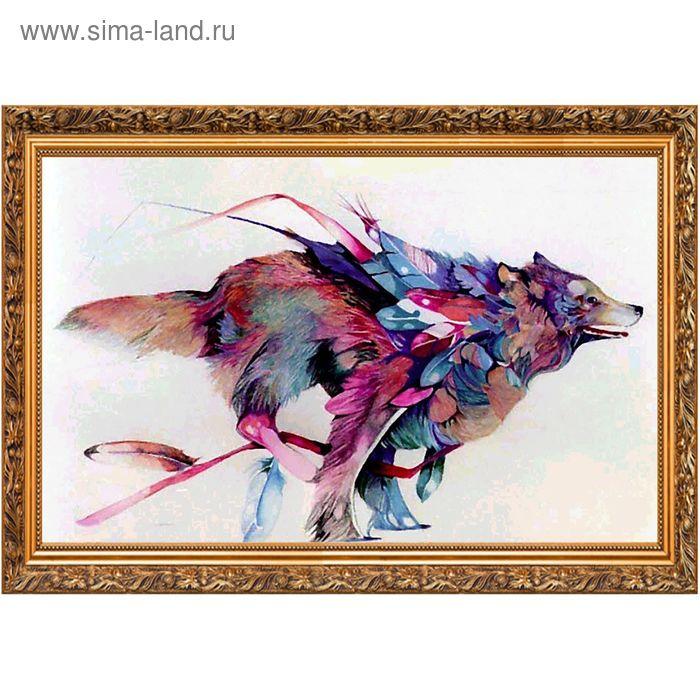 """Мозаичная картина """"Летящий волк"""""""