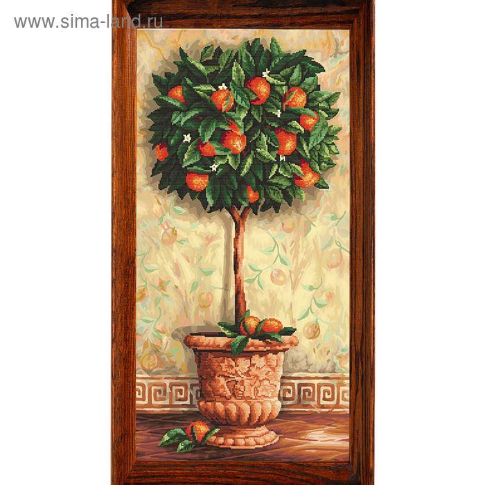 """Мозаичная картина """"Апельсиновое дерево"""""""