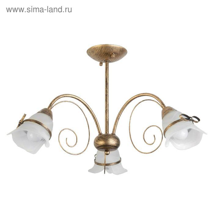 "Люстра ""Бриджет"" 3 лампы E14 60Вт золото матовое 66х66х35 см."