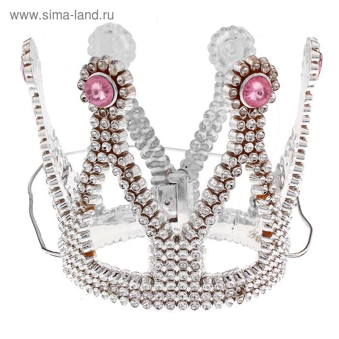 """Корона """"Принцессы"""" на веревочке, наконечник в камушек"""