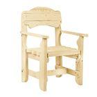 """Кресло к набору """"Разбойник"""" фигурный, натуральная сосна"""