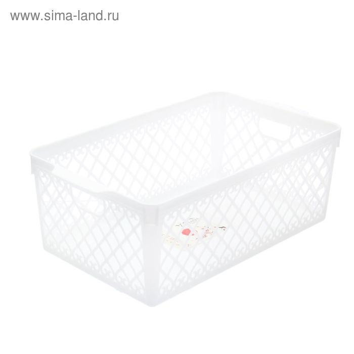 Корзина 30х17,5х10,8 см, цвет белый