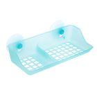 Полка для ванной комнаты на присосках, цвет голубой