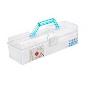 Контейнер для хранения с ручкой 1,6 л, 30х10х8,8 см, цвет голубой