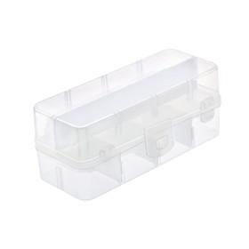 Органайзер для мелочей двухуровневый 15х6,5х6 см, прозрачный