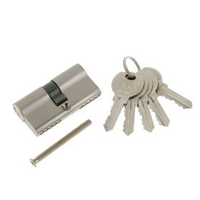 Цилиндровый механизм  N60 SN, английский ключ, цвет  матовый никель