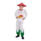 """Карнавальный костюм для мальчика """"Мухомор"""", шляпа, рубашка, штаны, р-р 64, рост 122-128 см"""