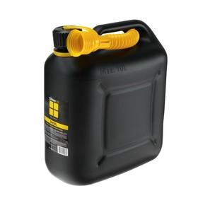 Канистра ГСМ, 10 л, пластиковая, черная