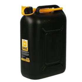 Канистра ГСМ, 25 л, пластиковая, черная