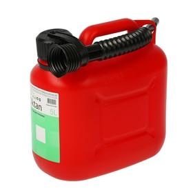 Канистра ГСМ, 5 л, пластиковая, красная