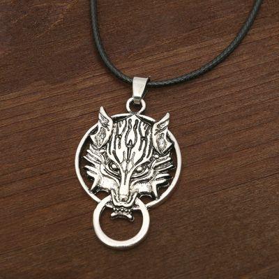"""Кулон мужской """"Волк"""" защитник, цвет чернёное серебро"""