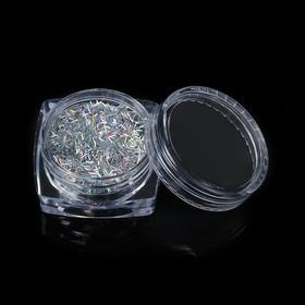 Декор для ногтей 'Блёстки палочки', цвет серебристый Ош