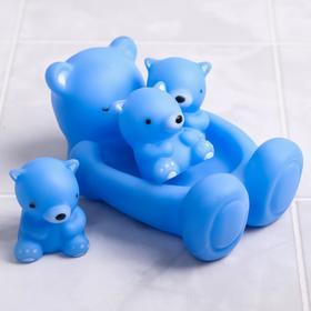 Набор для игры в ванне «Мишки»: мыльница, игрушки 3 шт., МИКС