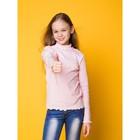 Водолазка для девочки, рост 140 см, цвет розовый CAJ 61628