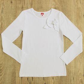 Блузка для девочки, рост 140 см, цвет белый CAJ 61634