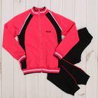 Костюм спортивный для девочки (куртка, брюки), рост 146 см, цвет арбузный CAJ 9655