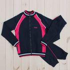 Костюм спортивный для девочки (куртка, брюки), рост 158 см, цвет тёмно-синий CAJ 9655