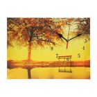 "Часы на холсте ""Осеннее озеро"",  25х35 см"