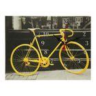 "Часы на холсте ""Жёлтый велосипед"",  30х40 см"