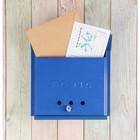 Ящик почтовый «Письмо», горизонтальный, с замком-щеколдой, синий