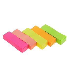Блок-закладка с липким краем 100л*5 50мм*15мм в пакете МИКС Ош