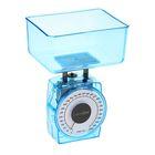 Весы кухонные LuazON, до 1 кг, шаг 20 г, чаша 400 мл, прозрачные, синие