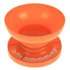 Весы кухонные LuazON, до 3 кг, шаг 20 г, чаша 1л, оранжевые