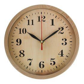 """Часы настенные """"Wood"""" круг, широкий обод 20*20*4 см."""