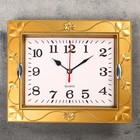 Часы настенные прямоуголные, рама листочки, микс, 21,5*3*18 см.