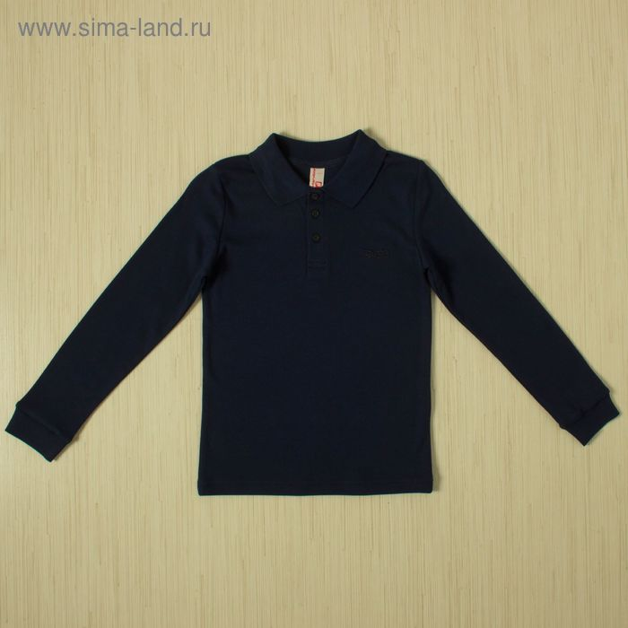Рубашка-поло для мальчика, рост 128 см, цвет тёмно-синий