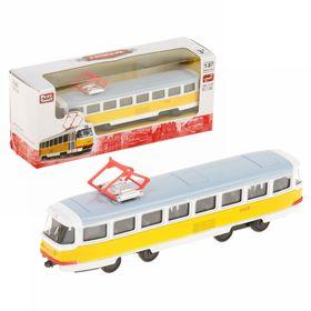 Трамвай металлический инерц 19,5*5*8 см X600-H09112