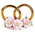"""Украшение на крышу """"Кольца с цветами"""", розовые цветы"""
