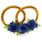 """Украшение на крышу """"Кольца с цветами"""", синие цветы"""