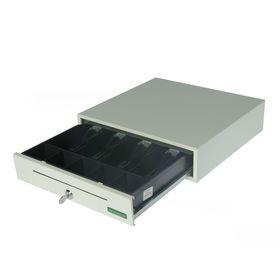 Денежный ящик ШТРИХ-miniCD, 4 отделения для банкнот, 5 отделений для монет, цвет белый