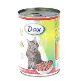 Влажный корм DAX для кошек, кусочки говядины в соусе, ж/б, 415 г