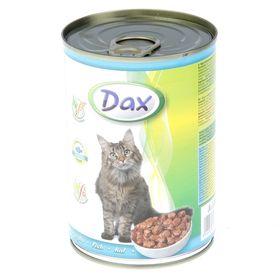 Влажный корм DAX для кошек, кусочки рыбы в соусе, ж/б, 415 г