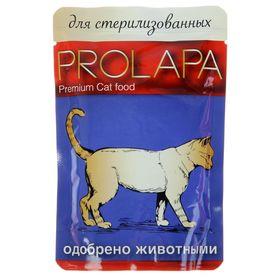 Влажный корм Prolapa Premium для стерилизованных кошек, пауч, 100 г