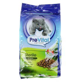 Сухой корм PreVital для стерилизованных кошек с птицей, 1,6 кг