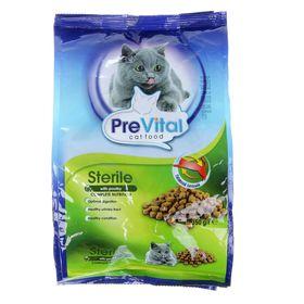 Сухой корм PreVital для стерилизованных кошек с птицей, 350 г