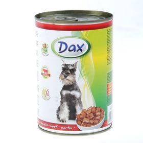 Влажный корм DAX кусочки в соусе с говядиной, ж/б 415 г