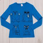 """Джемпер для девочки """"Четыре медведя"""", рост 152 (40), цвет синий Р819473"""