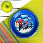 Тарелка детская пластиковая с рисунком, диаметр 14 см, высота 2,5 см, цвета МИКС