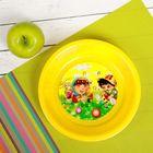 Тарелка детская пластиковая с рисунком, диаметр 15,5 см, высота 3,5 см, цвета МИКС
