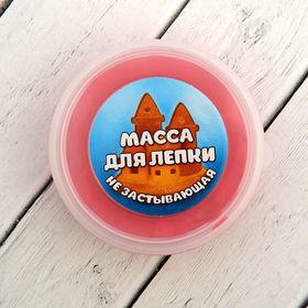 Масса для лепки не застывающая 'Лунная', 20 гр, цвет красный Ош