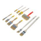 Набор кистей Hobbi, светлая натуральная щетина, деревянная ручка, 10 предметов
